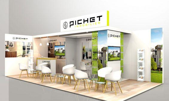 Un stand modulable évolutif pour le salon immobilier de Pichet - ONE-STAND