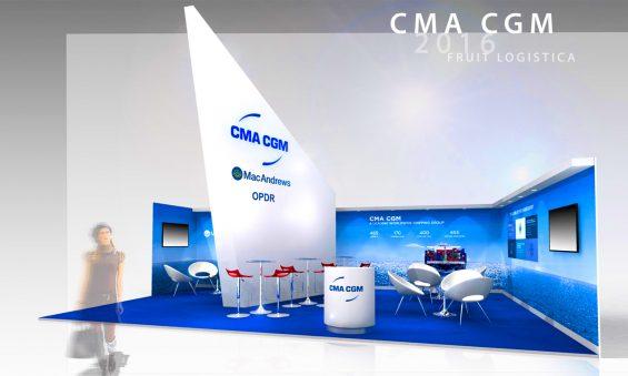 Création sur mesure d'un stand traditionnel pour le leader des transports maritimes