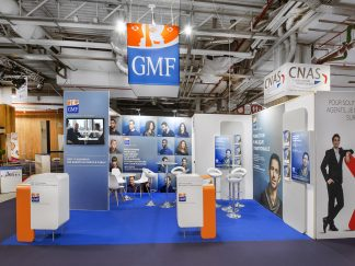 GMF choisit ONE-STAND pour concevoir et agencer son stand modulaire